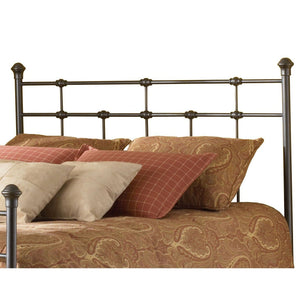 Queen-size Metal Headboard in Hammered Brown Finish