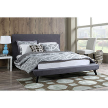 Load image into Gallery viewer, Queen size Grey Modern Classic Mid-Century Style Upholstered Platform Bed