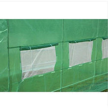 Load image into Gallery viewer, Greenhouse Kit 10 x 20 Ft with Heavy Duty Steel Frame and Green PE Cover