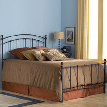 Load image into Gallery viewer, Queen size Complete Metal Bed Frame with Round Final Posts Headboard and Footboard