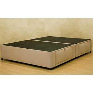 Queen size Charcoal Microfiber Upholstered Platform Bed with 4 Storage Drawers