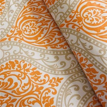 Load image into Gallery viewer, Queen size 5-Piece Orange Damask Print Comforter Set