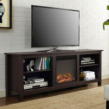 Load image into Gallery viewer, Espresso 70-inch Electric Fireplace TV Stand Space Heater