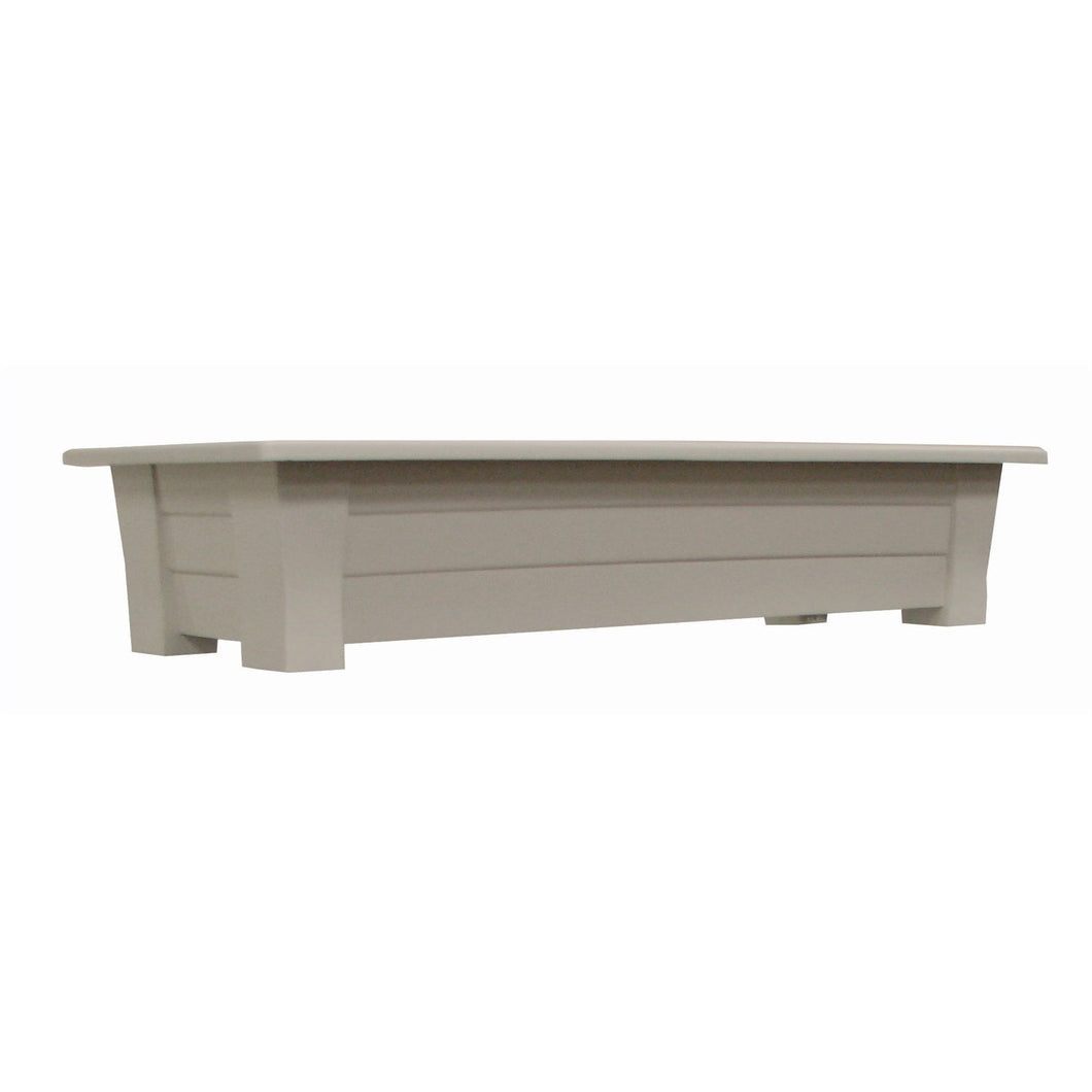 1.25 Cubic Foot Rectangular Garden Planter in Desert Gray Color - Made in USA