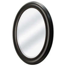 Load image into Gallery viewer, Round Oval Bathroom Wall Mirror with Beveled Edge and Bronze Frame