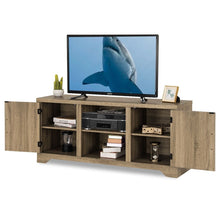 Load image into Gallery viewer, Natural Wood TV Stand Entertainment Center for up to 60-inch TV