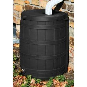 50-Gallon Rain Wizard Rain Barrel in Black