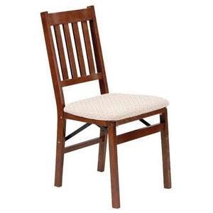 Set of 2 - Folding Dining Chair with Upholstered Seat