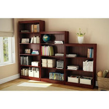 Load image into Gallery viewer, Contemporary 5-Shelf Bookcase Bookshelf in Royal Cherry Wood Finish