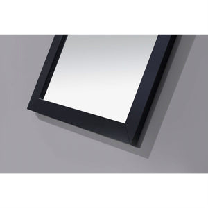 Modern 22-inch x 30-inch Bathroom Vanity Wall Mirror with Black Wood Frame
