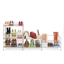 Load image into Gallery viewer, Iron 3-Tier Folding Shoe Rack