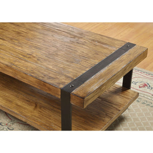 Contemporary Modern Classic Coffee Table in Worn Oak Finish