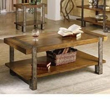 Load image into Gallery viewer, Contemporary Modern Classic Coffee Table in Worn Oak Finish