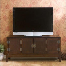 Load image into Gallery viewer, Oriental Style Entertainment Center in Espresso Finish