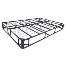 Load image into Gallery viewer, Full size Metal Boxspring Mattress Foundation with Jacquard Cover