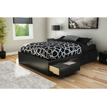 Load image into Gallery viewer, Full size Modern Platform Bed with 3 Storage Drawers in Black