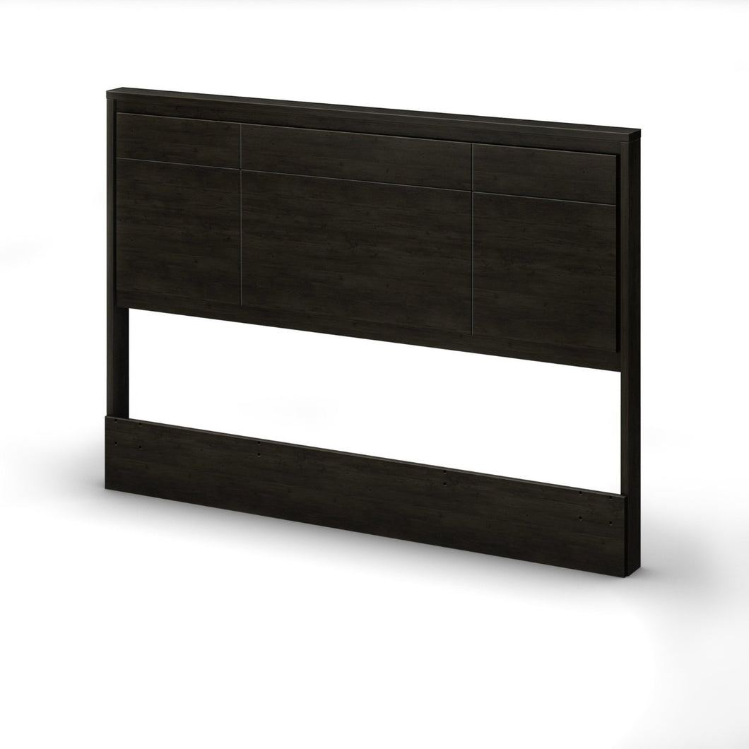 Queen size Contemporary Headboard in Ebony Wood Finish