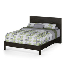 Load image into Gallery viewer, Queen size Contemporary Headboard in Ebony Wood Finish