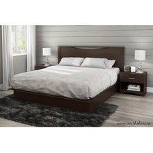Load image into Gallery viewer, King size Modern Platform Bed with 2 Storage Drawers in Chocolate