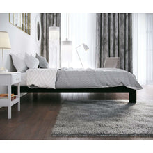 Load image into Gallery viewer, Twin Black Metal Platform Bed Frame with Wide Wood Slats
