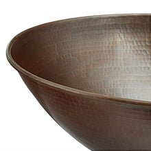 Load image into Gallery viewer, Vessel Style Solid Copper Bathroom Sink Oval 18 x 14 inch
