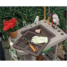 Load image into Gallery viewer, Outdoor Portable Potting Bench Gardening Station Utility Bin