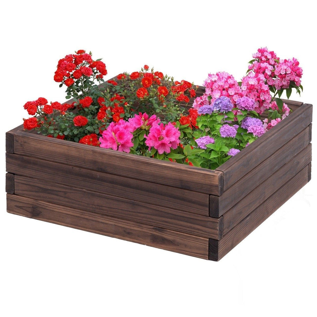 Solid Fir Wood 2 ft x 2 ft Raised Garden Bed Planter