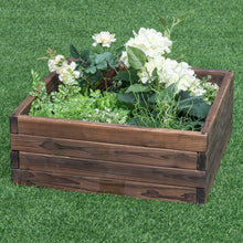 Load image into Gallery viewer, Solid Fir Wood 2 ft x 2 ft Raised Garden Bed Planter