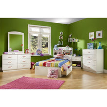 Load image into Gallery viewer, 6-Drawer Double Dresser in White Finish with Interchangeable Handles