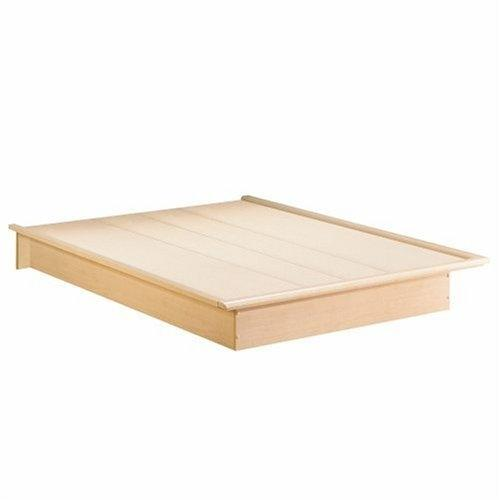 Queen Size Platform Bed Frame in Natural Maple Finish
