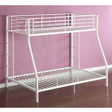 Load image into Gallery viewer, White Twin over Full Metal Bunk Bed