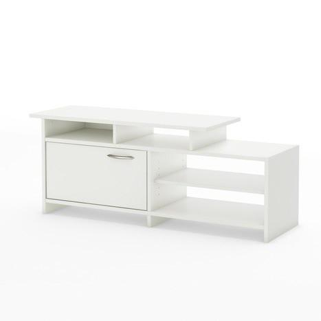 Modern White TV Stand for Flat Screen TVs up to 42-inch