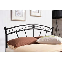 Load image into Gallery viewer, Twin size Stylish Black Metal Platform Bed Frame with Headboard and Footboard