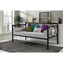 Load image into Gallery viewer, Twin size Modern Black Metal Daybeds - Use as Bed or Seating