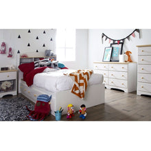 Load image into Gallery viewer, Twin size White Wood Platform Bed Daybed with Storage Drawers