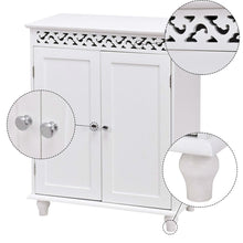 Load image into Gallery viewer, White Modern 2-Door Bathroom Storage Floor Cabinet
