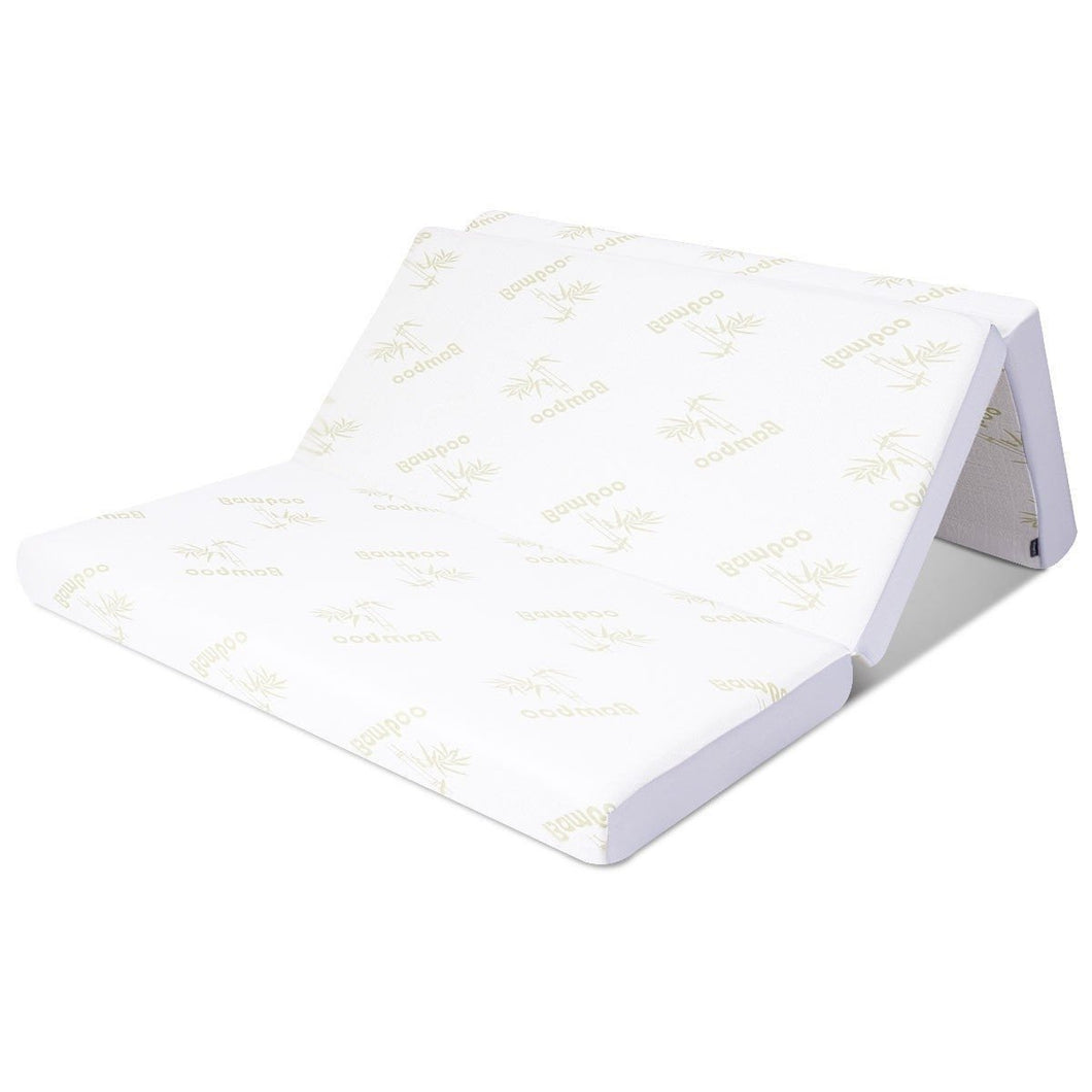Twin size 6-inch Folding Memory Foam Mattress with Washable Cover