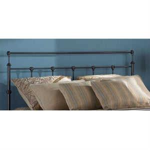Twin size Metal Headboard with Smooth Post and Rounded Tops