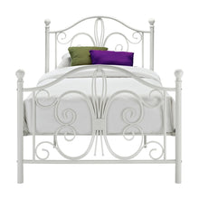 Load image into Gallery viewer, Twin White Metal Platform Bed Frame with Headboard and Footboard