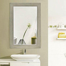 Load image into Gallery viewer, Rectangle 35 x 23 inch Bathroom Wall Mirror with Wood Frame