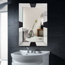 Load image into Gallery viewer, Modern 31 x 23 inch Rectangle Beveled Bathroom Wall Mirror