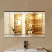 Load image into Gallery viewer, Frameless 35 x 24 inch Rectangle Bathroom Wall Mirror