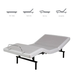 Twin XL Adjustable Bed Base with Remote - Made in USA