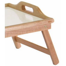 Load image into Gallery viewer, Breakfast in Bed Tray Table with Handles and Foldable Legs
