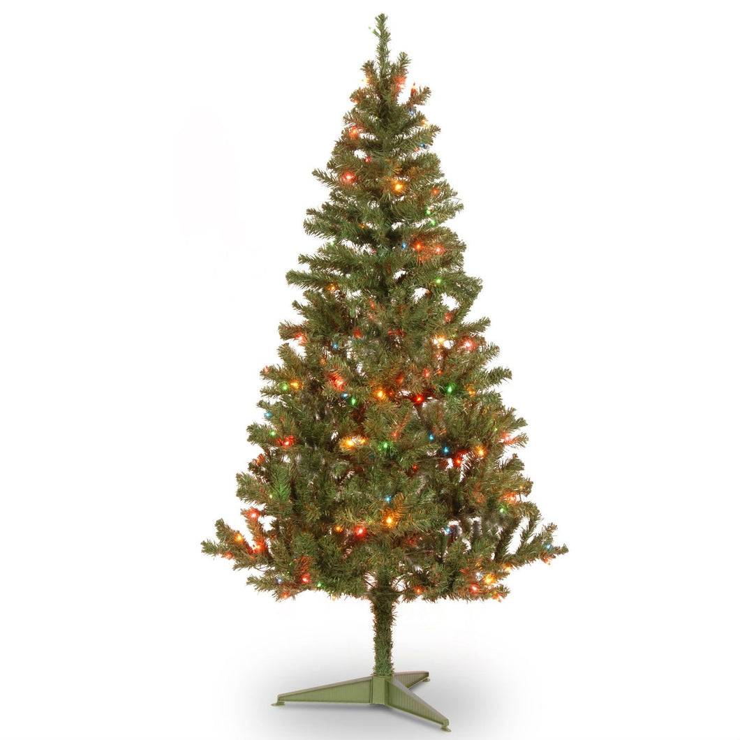 6' Faux Christmas Tree with 200 Pre-Lit Multicolored Lights