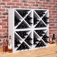 Load image into Gallery viewer, 12-Bottle Stackable Wine Rack in White Wood Finish