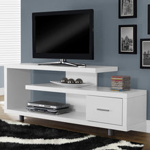Load image into Gallery viewer, White Modern TV Stand - Fits up to 60-inch Flat Screen TV