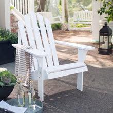 Load image into Gallery viewer, White Wood Classic Adirondack Chair with Comfort Back Design