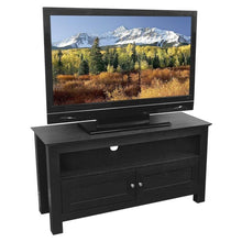 Load image into Gallery viewer, 44-inch Flat Screen TV Stand in Black Wood Grain Finish