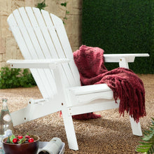 Load image into Gallery viewer, Folding Adirondack Chair in White Wood Finish